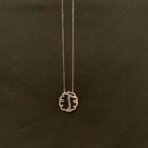 """Jewelry - Sterling Silver Initial """"T"""" Necklace."""